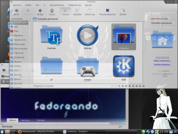 Escritorio Diciembre KDE 2