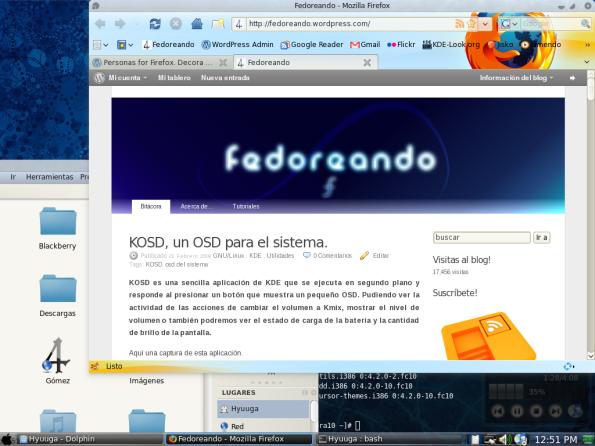 """Firefox con la extensión """"Personas"""""""