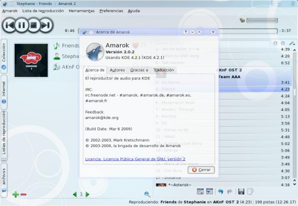Amarok 2.0.2.