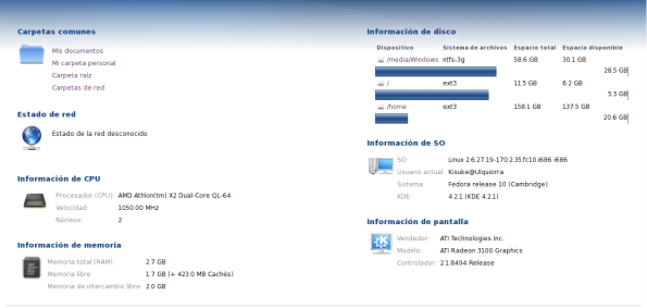 KDE 4.2.1 - Sysinfo.