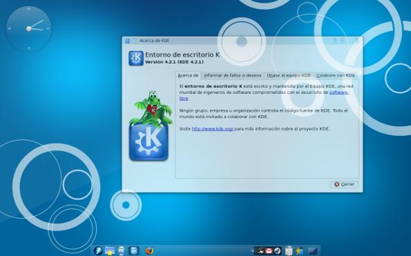 KDE 4.2.1.