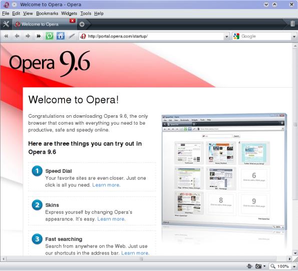 Opera 9.64.