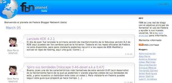 Planeta Fedora Blogger Network.