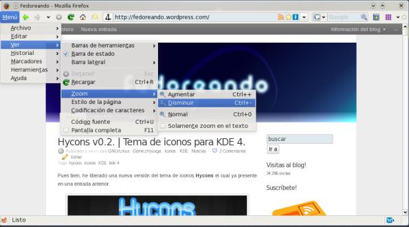 QtCurve y Firefox.