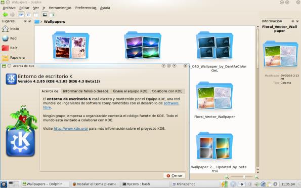 KDE 4.3 Beta 1 en F11.