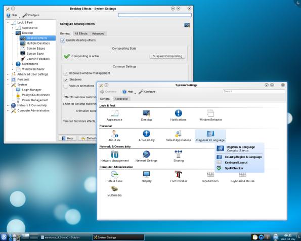 KDE 4.3.