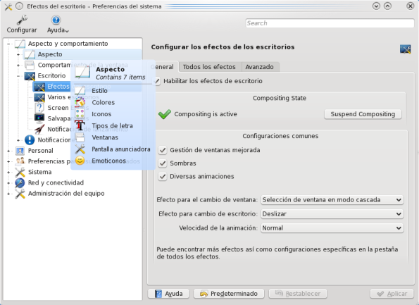 KDE 4.3 Beta 1 | Preferencias del sistema KControl.