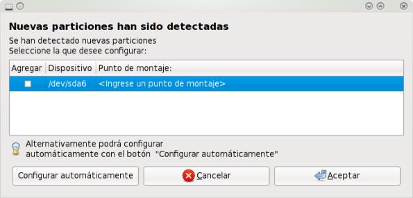 Montando particiones NTFS al inicio del sistema.