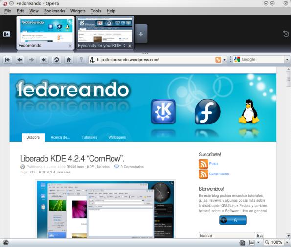 Opera 10 Beta 1.