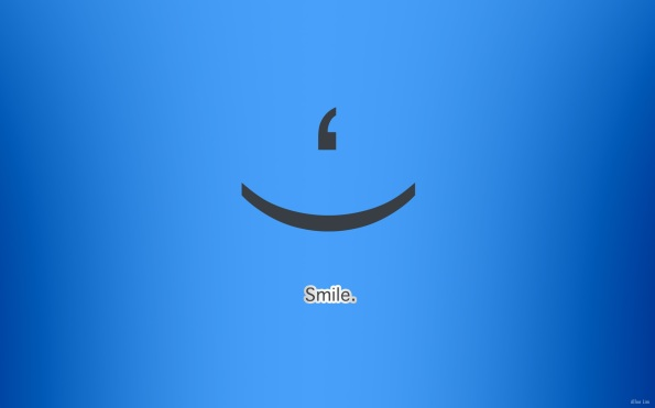 Smile Blue Wallpaper.