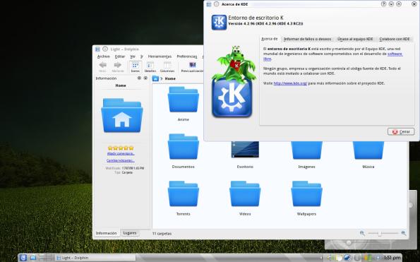 KDE 4.3 RC2 en Fedora 11 Leonidas.
