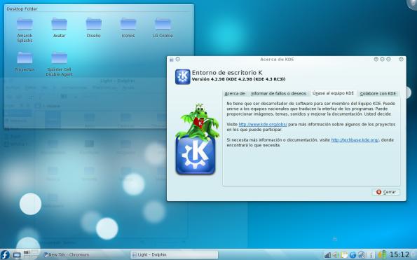 KDE 4.3 RC3 en Fedora 11 Leonidas.