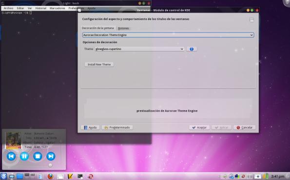 Aurorae - Decorador de ventanas para KDE 4.3.