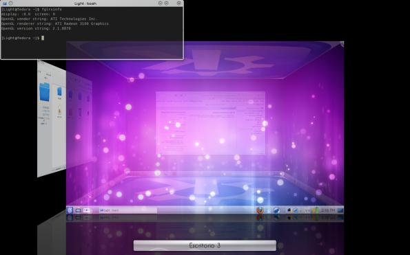 Escritorio KDE 4.3 + Efectos.