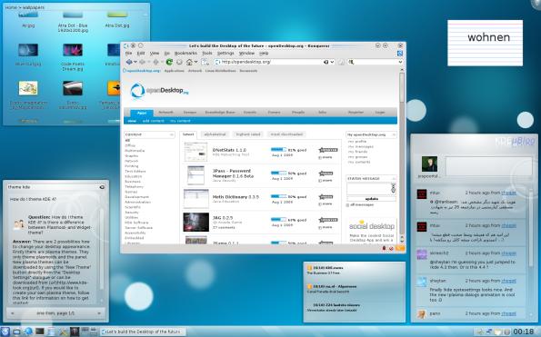 KDE 4.3 Desktop.