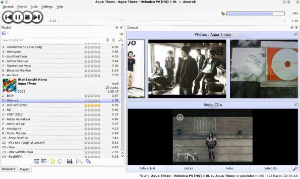 Amarok 2.2-GIT - Applet Video y fotos.