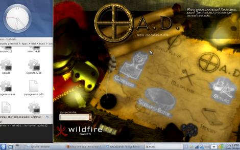 Jugando 0 A. D en Fedora 11....