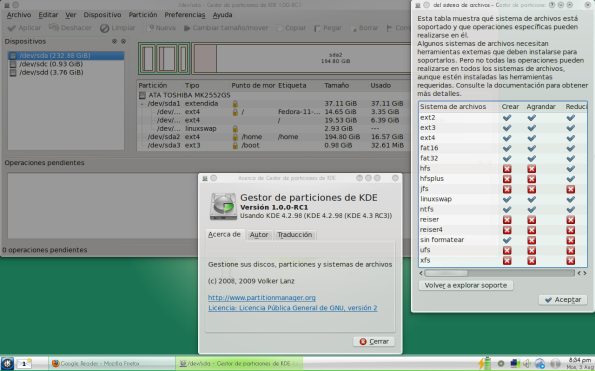 KDE Partition Manager RC1.