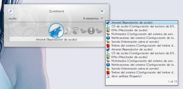 KRunner - Modo orientado a tareas.
