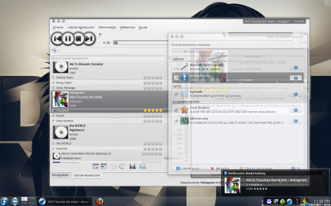 AmaroKnotify en KDE 4.3 y Amarok 2.2 Beta 2.