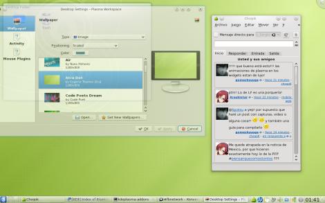 Mi escritorio KDE Trunk en Fedora 11.